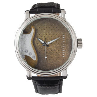 Cool Metal Grunge Electric Guitar Personalized Watch
