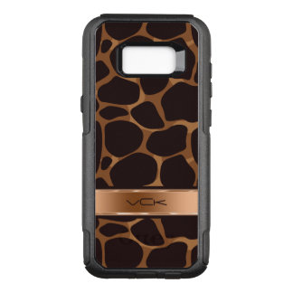 Cool Metallic Copper Tones & Brown Leopard OtterBox Commuter Samsung Galaxy S8+ Case