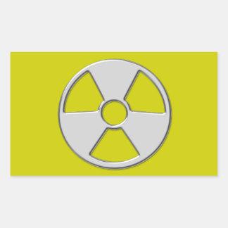 Cool Metallic Radioactive Radiation Symbol Rectangular Sticker