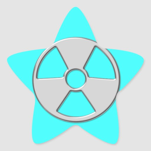 Cool Metallic Radioactive Radiation Symbol Sticker