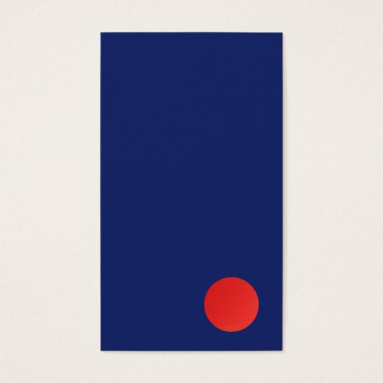 Cool Minimalistic Designer Red Circle Navy Blue Business