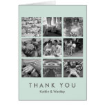 Cool mint grid collage 9 photos memories thank you