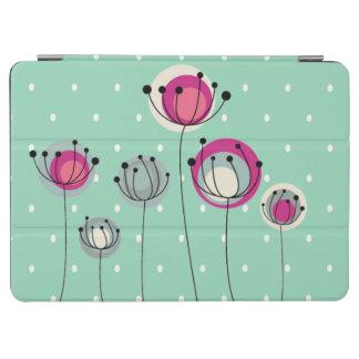 Cool Mint  Polka Dots ,Simplistic Flowers iPad Air Cover