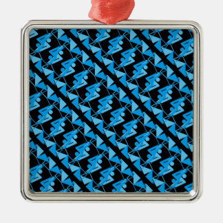 Cool Mirrored Geometric & Abstract Pattern Christmas Ornament