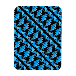 Cool Mirrored Geometric & Abstract Pattern Magnet