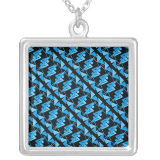 Cool Mirrored Geometric & Abstract Pattern Silver Plated Necklace