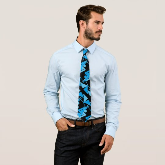Cool Mirrored Geometric & Abstract Pattern Tie