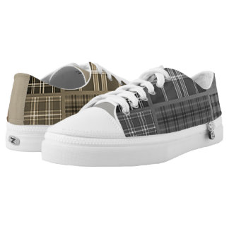 Cool Mismatched Plaids Printed Shoes