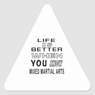 Cool Mixed martial arts Designs Triangle Stickers