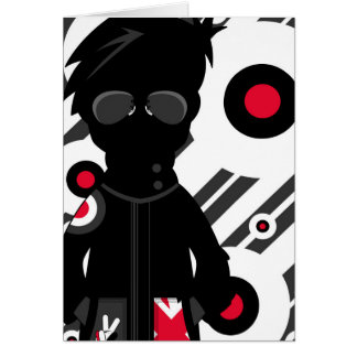 Cool Mod in Silhouette Card