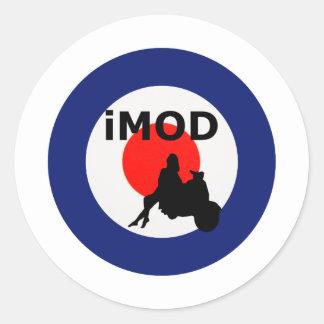 Cool mod round sticker