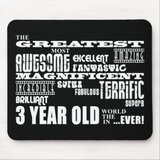 Cool Modern 3rd Birthdays : Greatest 3 Year Old Mouse Pad