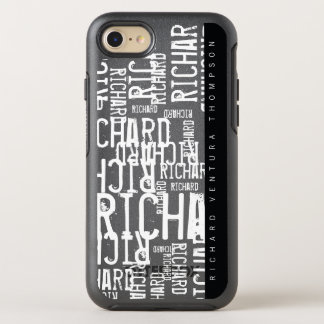 cool / modern b/w cellphone_case with name OtterBox symmetry iPhone 8/7 case