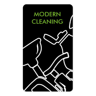 Cool Modern Cleaning Service Pack Of Standard Business Cards