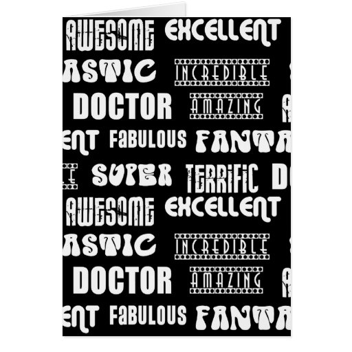 Cool Modern Design for Doctors : Positive Words Card