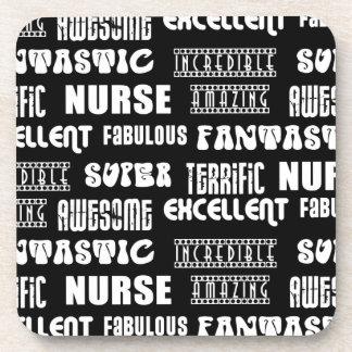 Cool Modern Design for Nurses Positive Words Drink Coaster