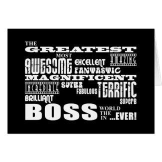 Cool Modern Fun Bosses : Greatest Boss Note Card