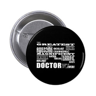 Cool Modern Fun Doctors Greatest Doctor World Ever Pin