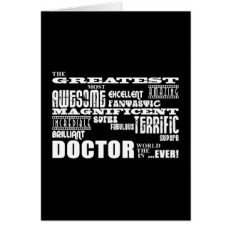 Cool Modern Fun Doctors Greatest Doctor World Ever Card