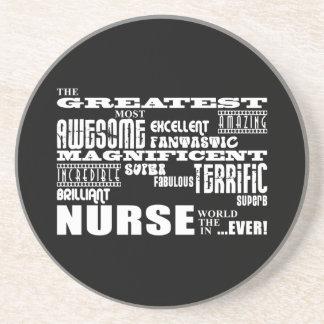 Cool Modern Fun Nurses : Greatest Nurse World Ever Beverage Coasters