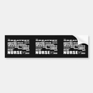 Cool Modern Fun Nurses : Greatest Nurse World Ever Bumper Sticker
