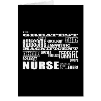 Cool Modern Fun Nurses : Greatest Nurse World Ever Greeting Card