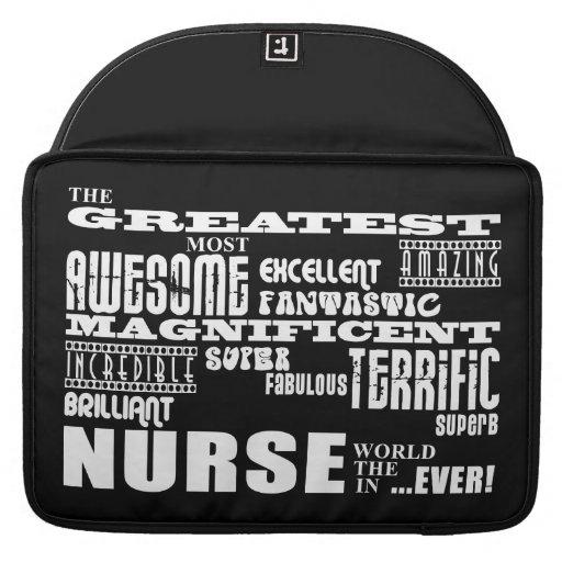 Cool Modern Fun Nurses : Greatest Nurse World Ever MacBook Pro Sleeves