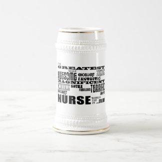 Cool Modern Fun Nurses : Greatest Nurse World Ever Mug