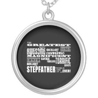 Cool Modern Fun Stepfathers : Greatest Stepfather Silver Plated Necklace