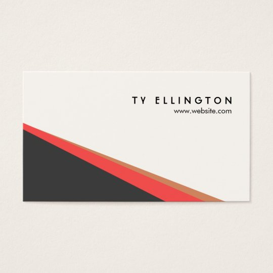 Cool Modern Geometric Abstract Business Card