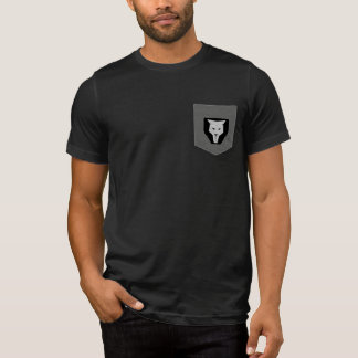 Cool Modern Geometric Lion Face Logo T-Shirt