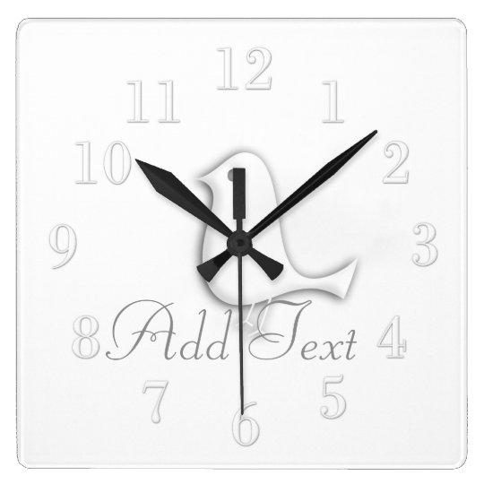 Cool Modern Glossy Bird White Wall Clock