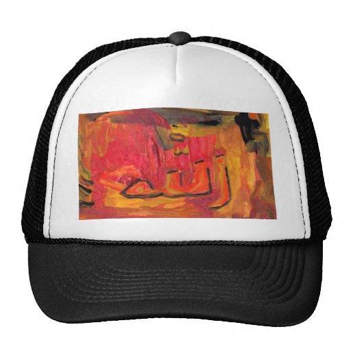 cool modern islamic design name of god trucker hats zazzle