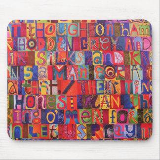 Cool modern letter mosaic mouse mat