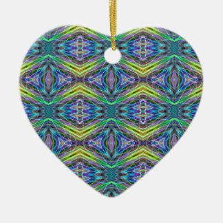 Cool Modern Multi colored Tribal Pattern Ceramic Heart Decoration