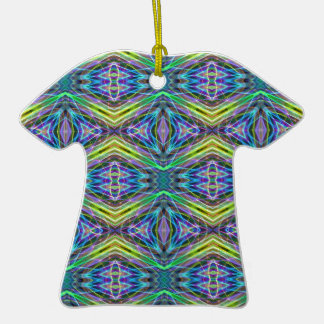 Cool Modern Multi colored Tribal Pattern Ceramic T-Shirt Decoration