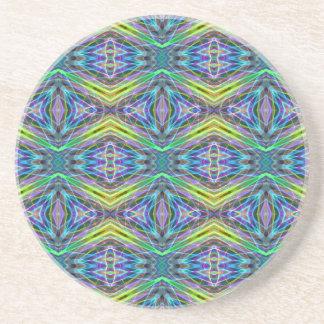 Cool Modern Multi colored Tribal Pattern Coaster