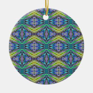 Cool Modern Multi colored Tribal Pattern Round Ceramic Decoration