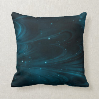 Cool Modern Nebula Night Sky Pillow