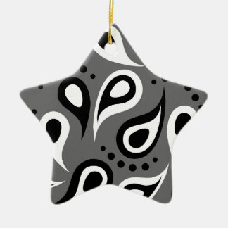 Cool Modern Paisley pattern effects Christmas Tree Ornaments