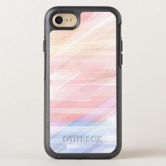 Cool Modern Pastel Stripes OtterBox Symmetry iPhone 8/7 Case