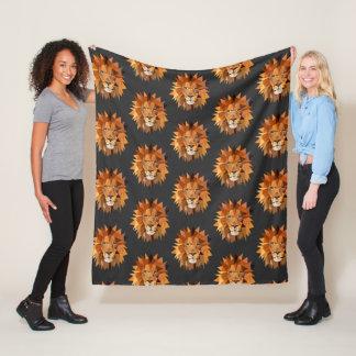 Cool Modern Polygon Lions Pattern Fleece Blanket