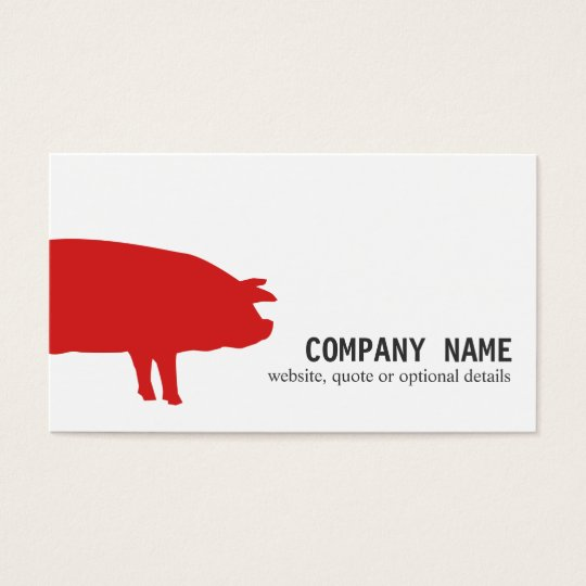Cool Modern Red Pig Business Card