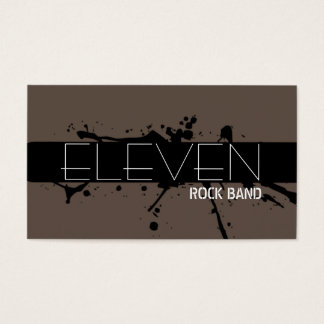 Cool Modern Rock Band Singer Business Card