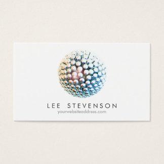 Cool Modern Silver Circles Sphere