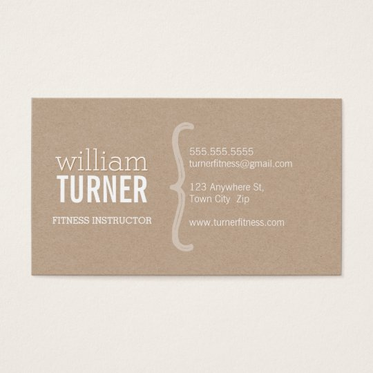 COOL MODERN simple text minimal trendy eco kraft