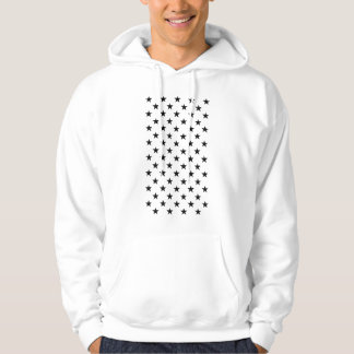 Cool Modern Star Pattern Simple Trendy Stylish Hoodie