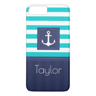 Cool Modern Striped Nautical Design Custom iPhone 8 Plus/7 Plus Case