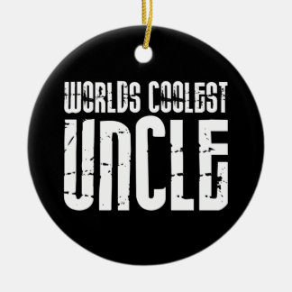 Cool Modern Urban Uncles : Worlds Coolest Uncle Christmas Ornament