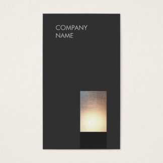 Cool Modern Zen Glow Minimalist Black Business Card